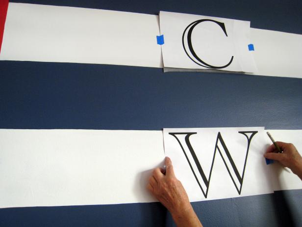 Position and Attach Monogram Letters to Wall