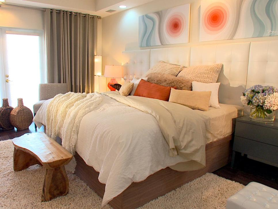 Headboard ideas from hgtv designers hgtv for Bedroom headboard ideas