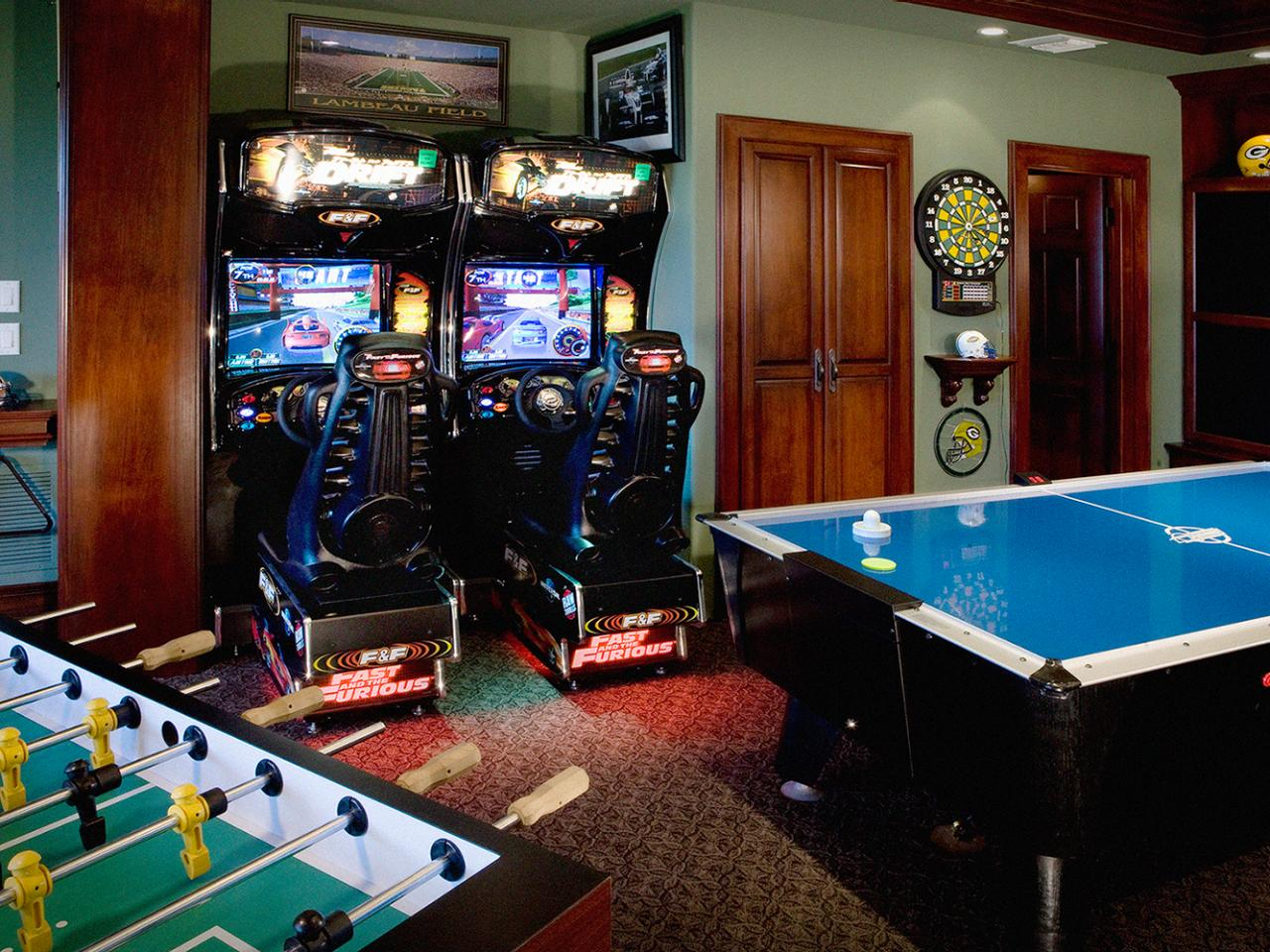Dream house game room - Million Dollar Game Room Traditional Arcade Games Are Available As