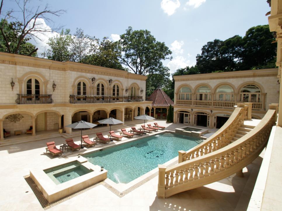 million dollar courtyard and basement - Million Dollar Home