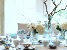 Branch and Butterfly Spring Table Setting and Centerpiece