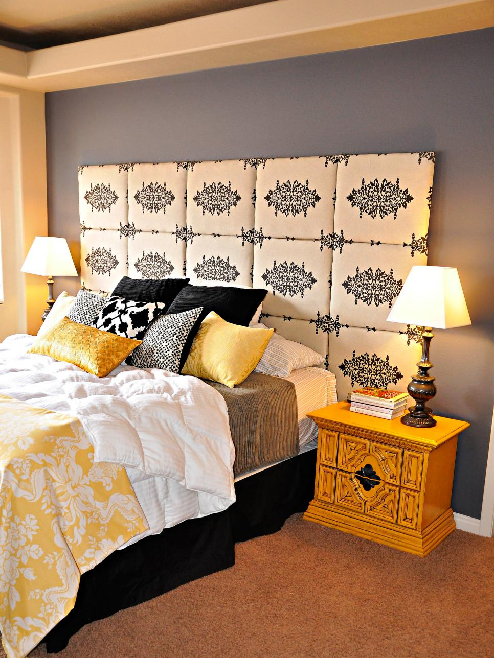 20 high impact headboards hgtv for Bedroom headboard ideas