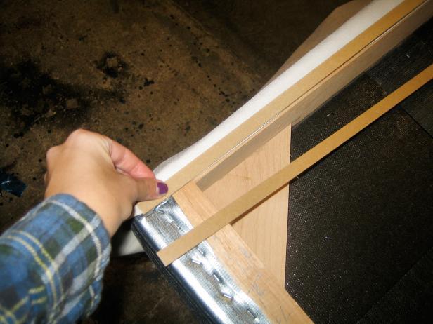 Staple Fabric to Headboard
