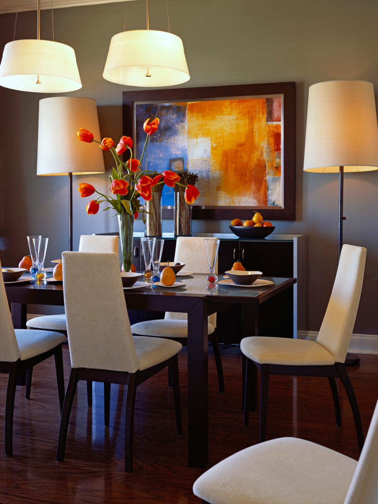 Our fave colorful dining rooms living room and dining for Wall art for dining room contemporary