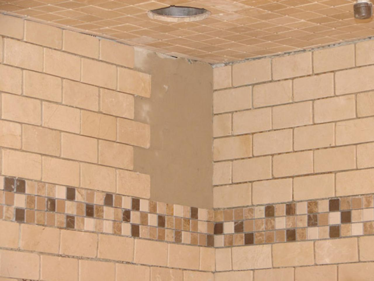 How to install tile in a bathroom shower hgtv Best way to tile around a bath