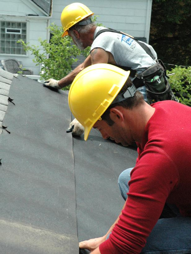 Installing Shingles on Damaged Roof