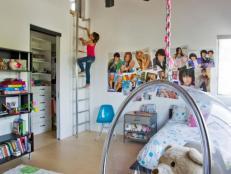 Girl's Loft-Like Bedroom