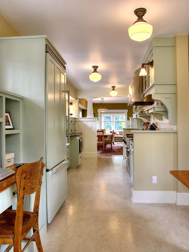 Original Galley Cottage Kitchen