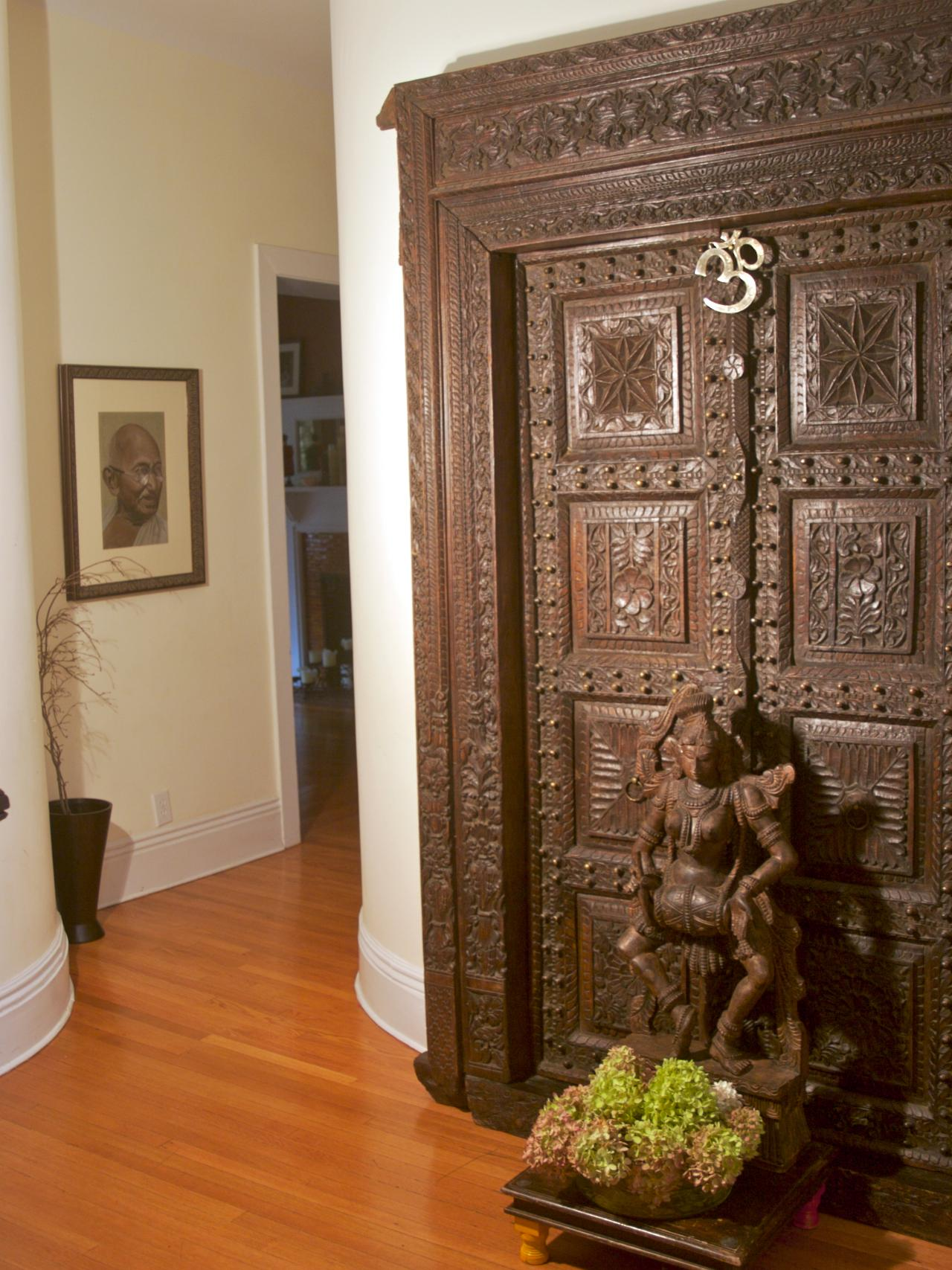 12 spaces inspired by india interior design styles and for Home front door design indian style