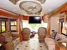 Luxurious RV Cockpit and Living Space
