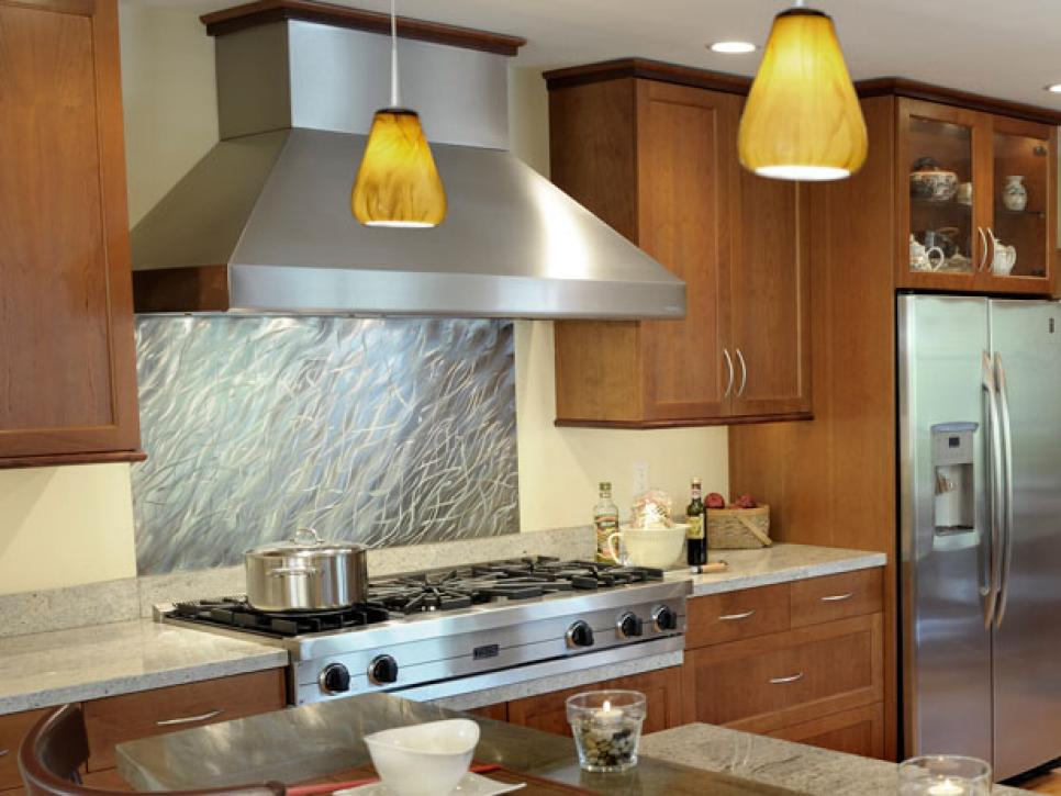 20 stainless steel kitchen backsplashes hgtv Kitchen backsplash ideas pictures 2010