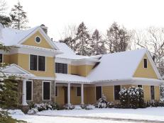 Snow-Covered Home Exterior