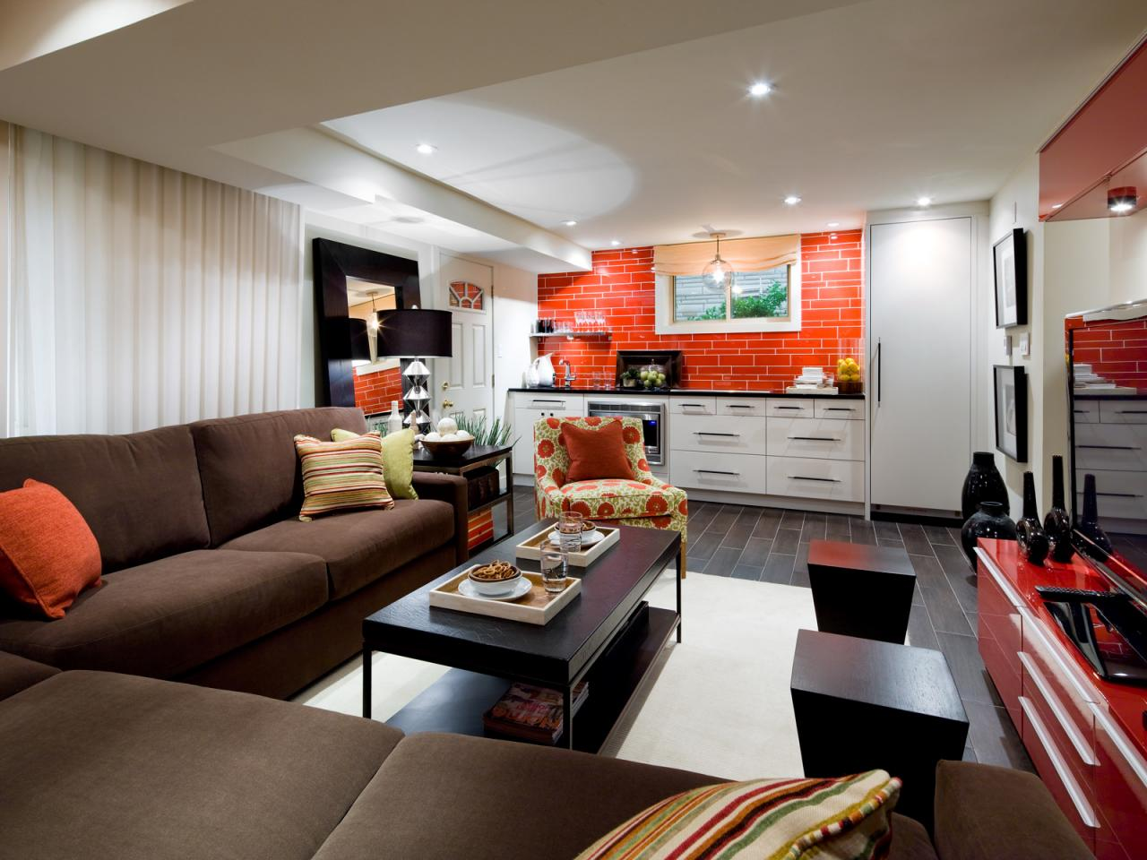 10 chic basements by candice olson decorating and design Basement architect