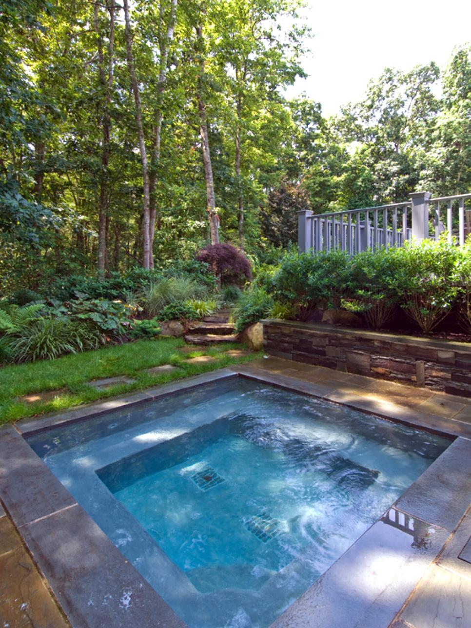 Sexy hot tubs and spas hgtv for In ground pool backyard ideas