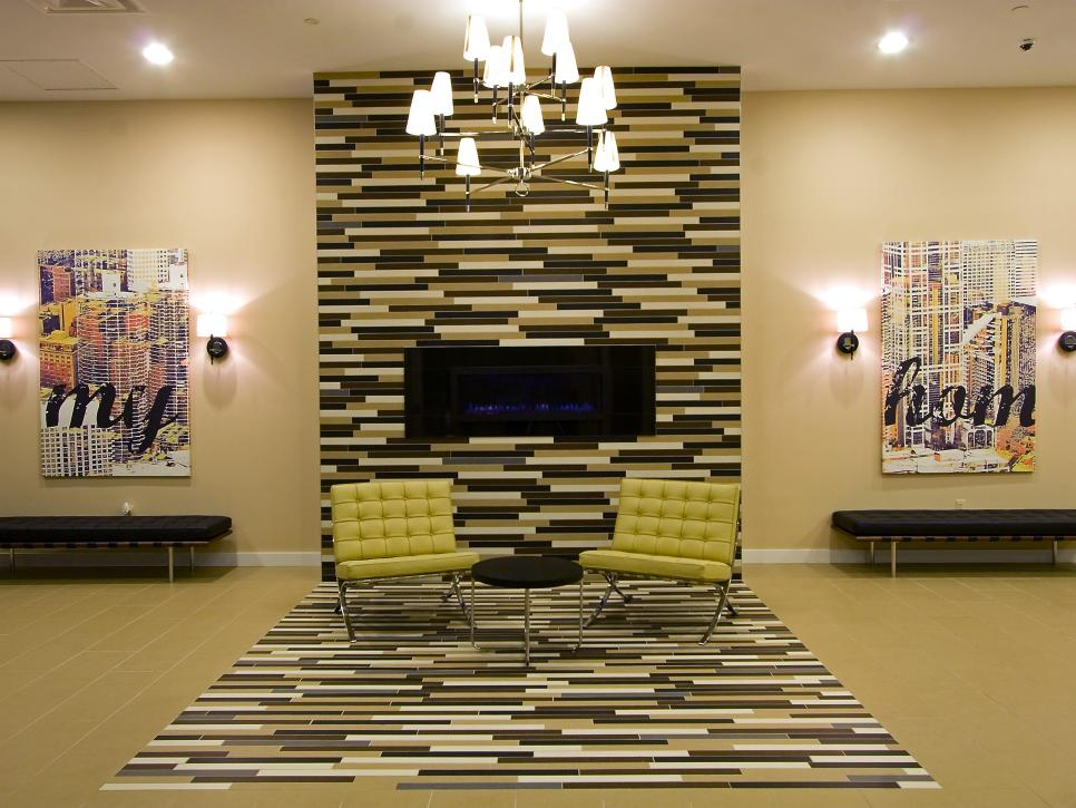 10 colorful tile fireplaces hgtv - Fireplace Design Ideas With Tile