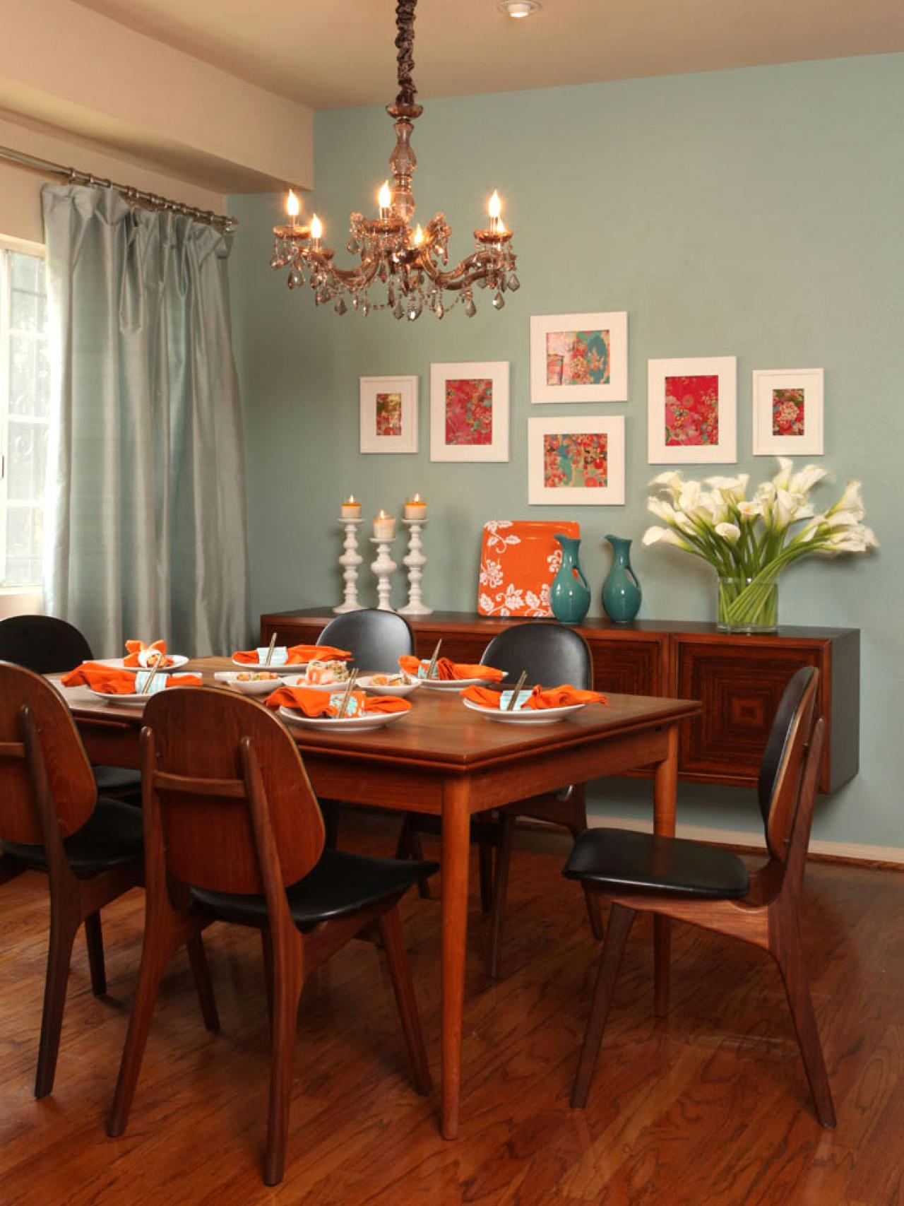our fave colorful dining rooms living room and dining room decorating ideas and design hgtv. Black Bedroom Furniture Sets. Home Design Ideas
