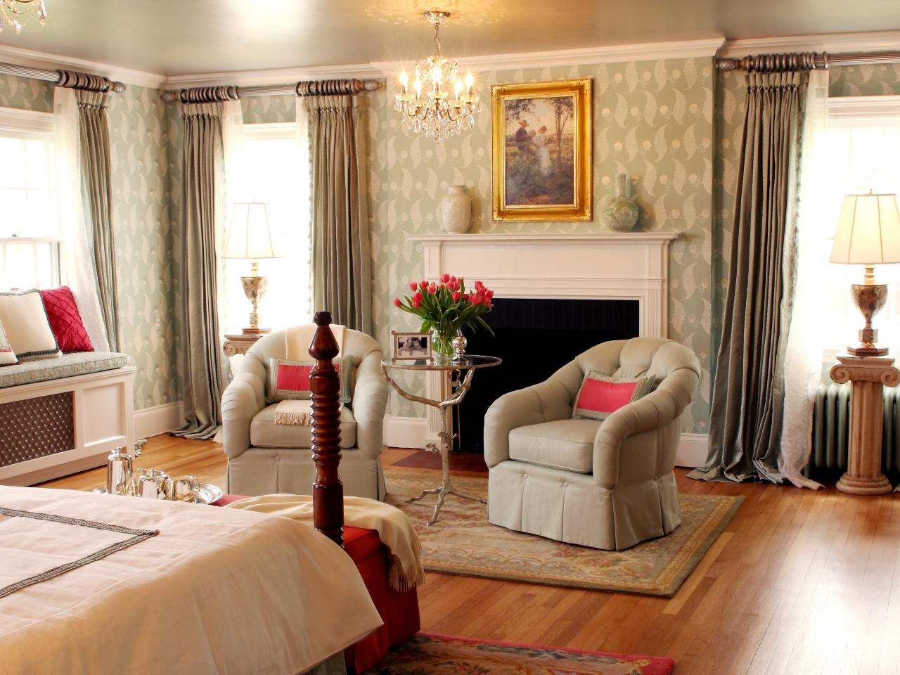 Stylish Home Design Ideas Bedroom Window Treatment Ideas