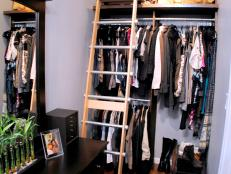 Ladder in Closet