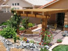 Pergola-Covered Furnished Patio