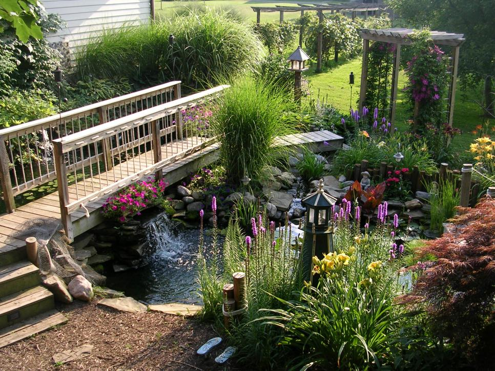 Fabulous water features hgtv for Backyard ponds and water features