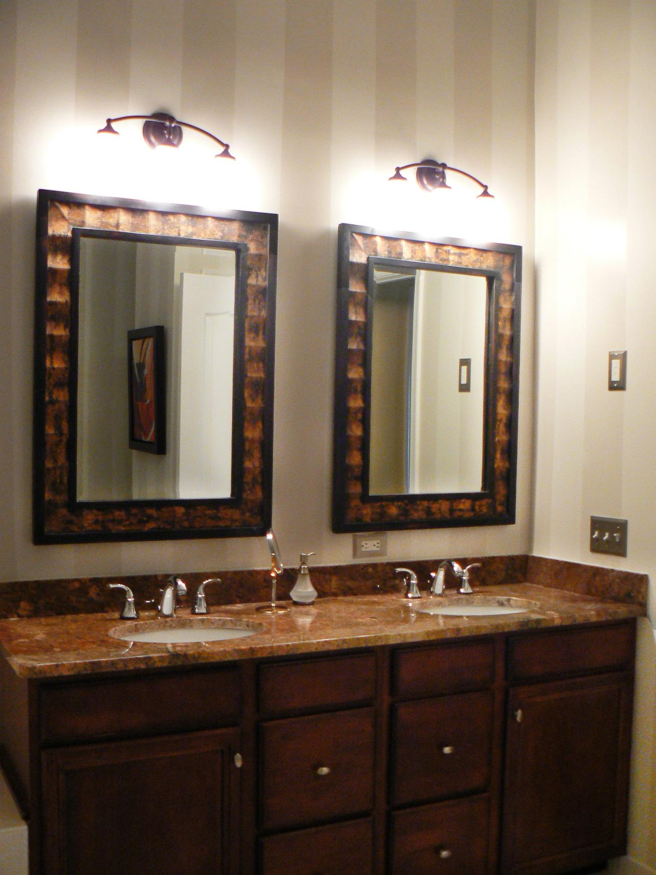 Mirrored Bathroom Vanities