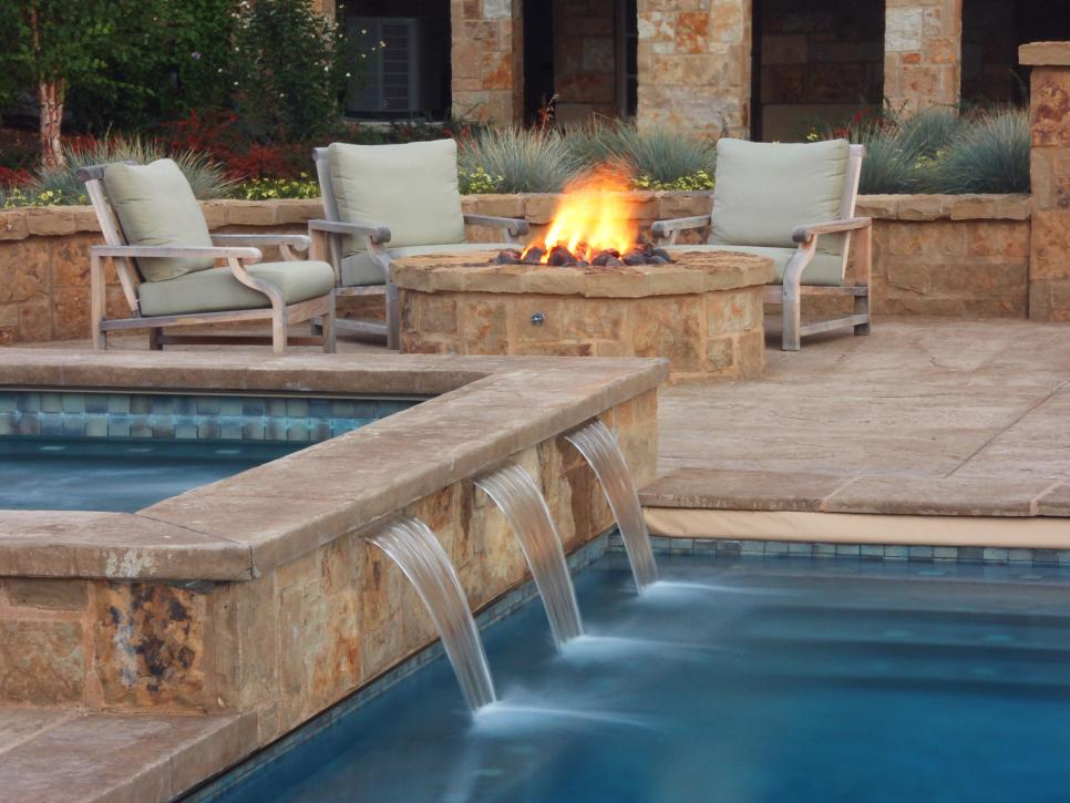 Swimming pool features hgtv for Poolside ideas
