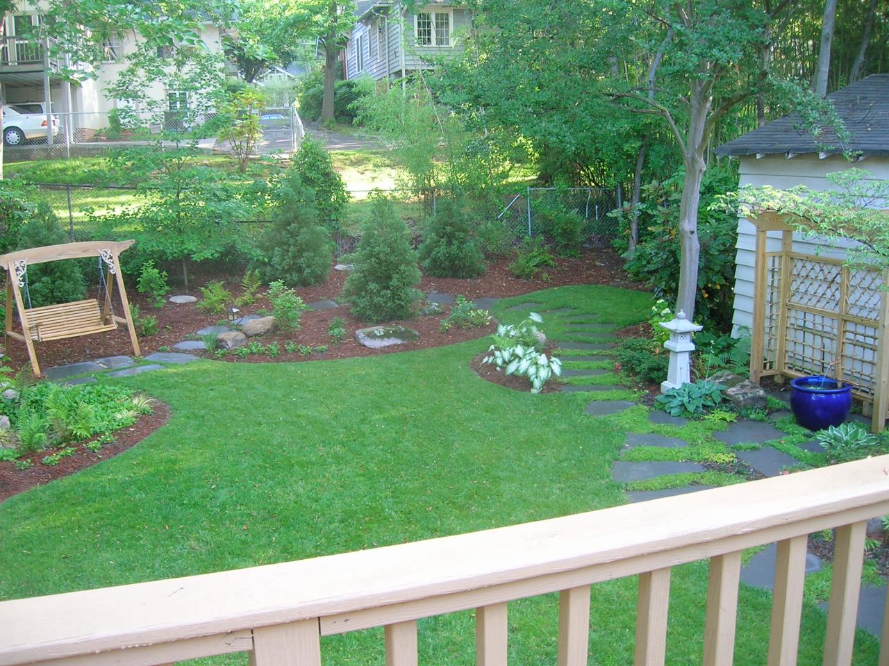 Before after big backyard makeovers landscaping ideas Backyard landscape photos ideas