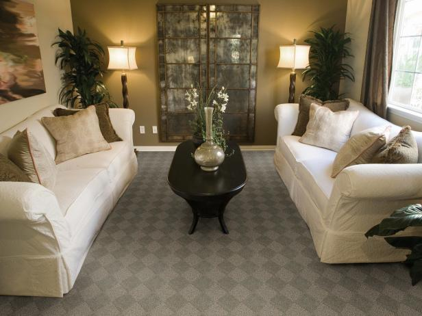 12 ways to incorporate carpet in a room 39 s design hgtv for Best carpet for living room