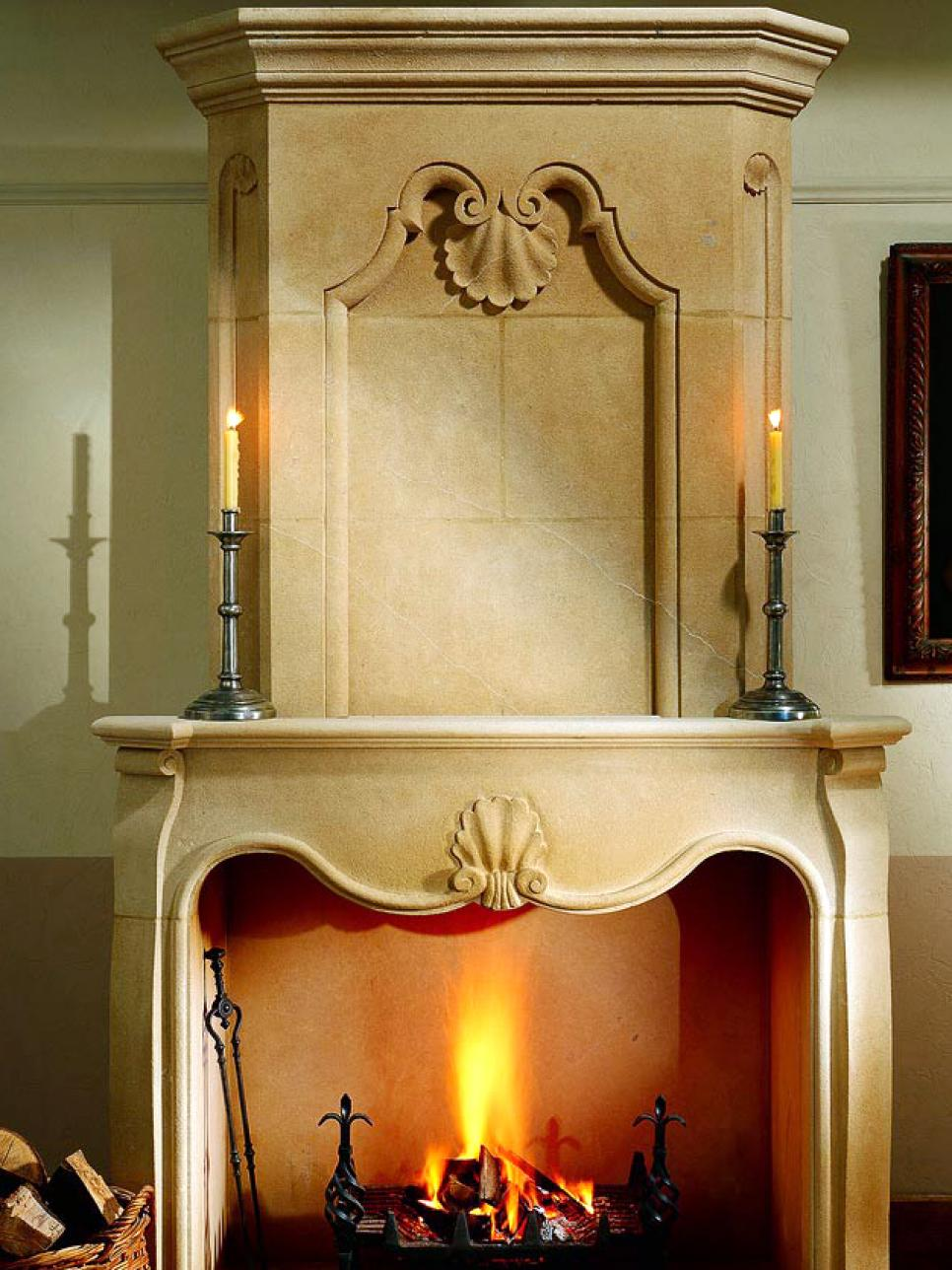 Fiery Fireplace Candles HGTV