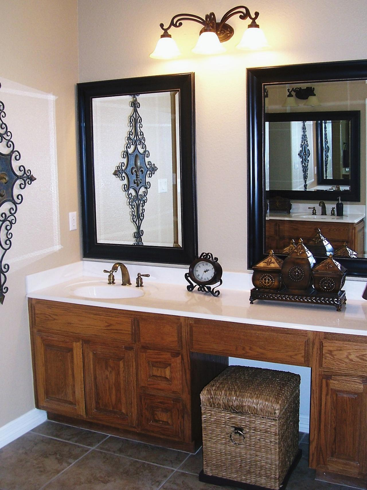 Bathroom vanity mirrors hgtv for Bathroom vanity mirrors
