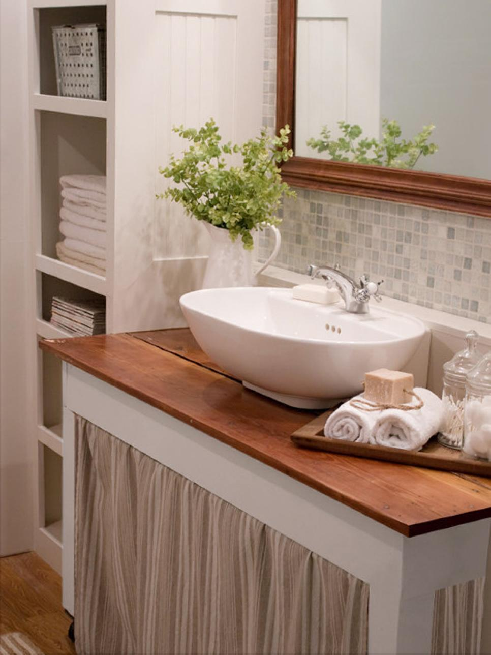 Turn Your Before Bathroom Into An After HGTV - Diy bathroom remodel for small bathroom ideas