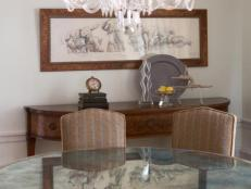 Dining Room With Mirrored Table