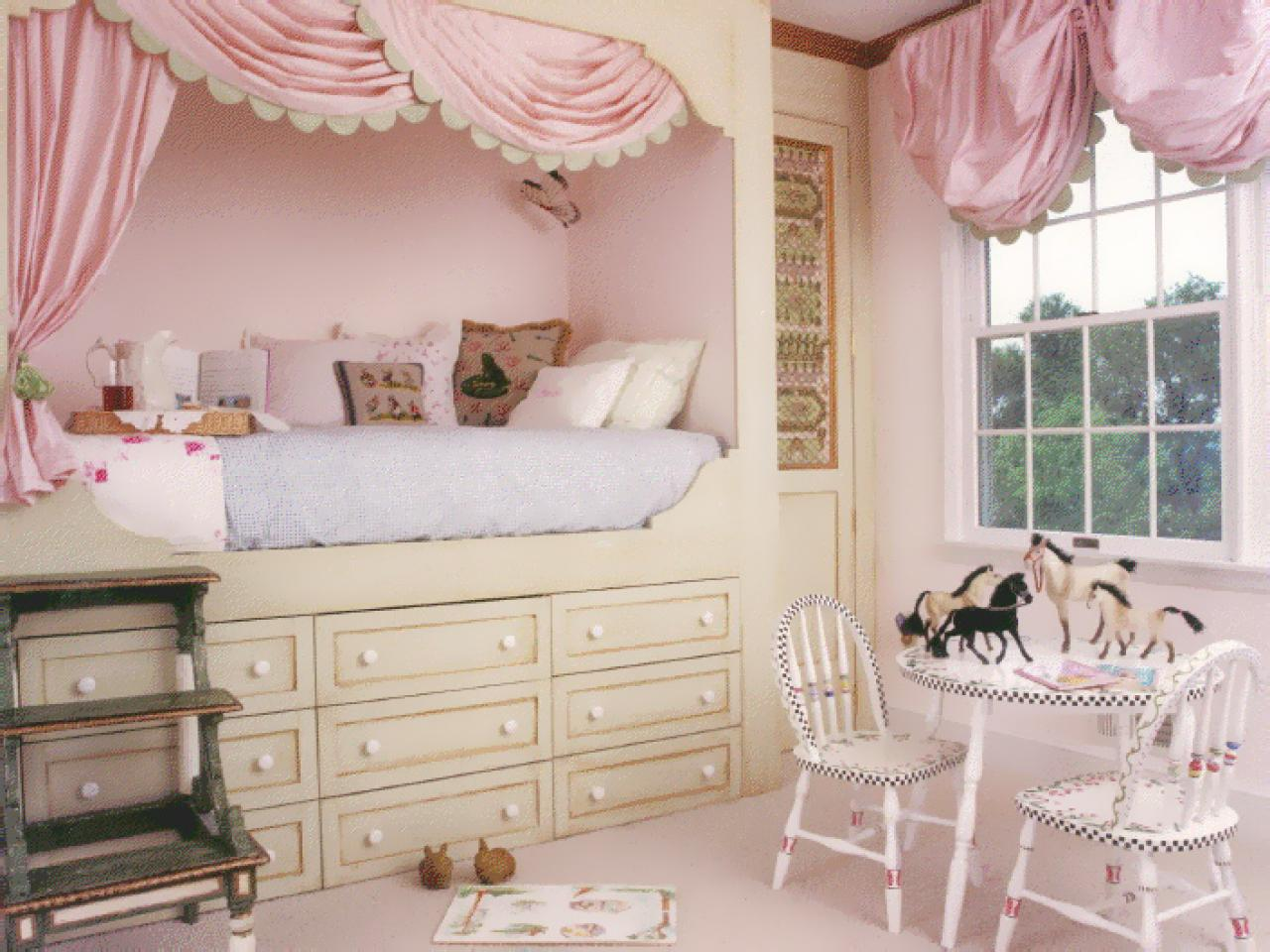 Kids 39 rooms storage solutions hgtv - Bed for girls room ...