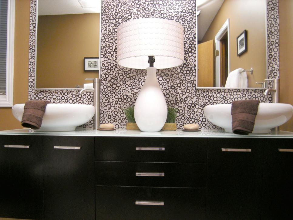bathroom vanity with sink and mirror.  10 Beautiful Bathroom Mirrors HGTV