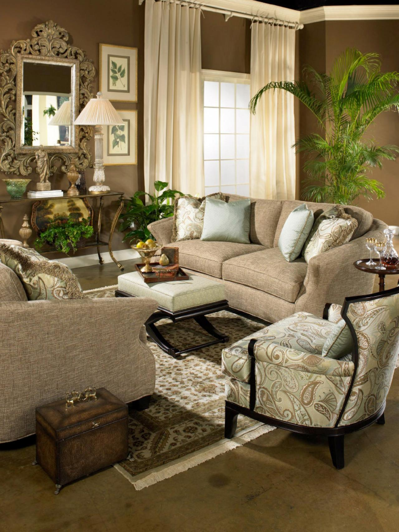 Chocolate Living Room Decor: Photo Page