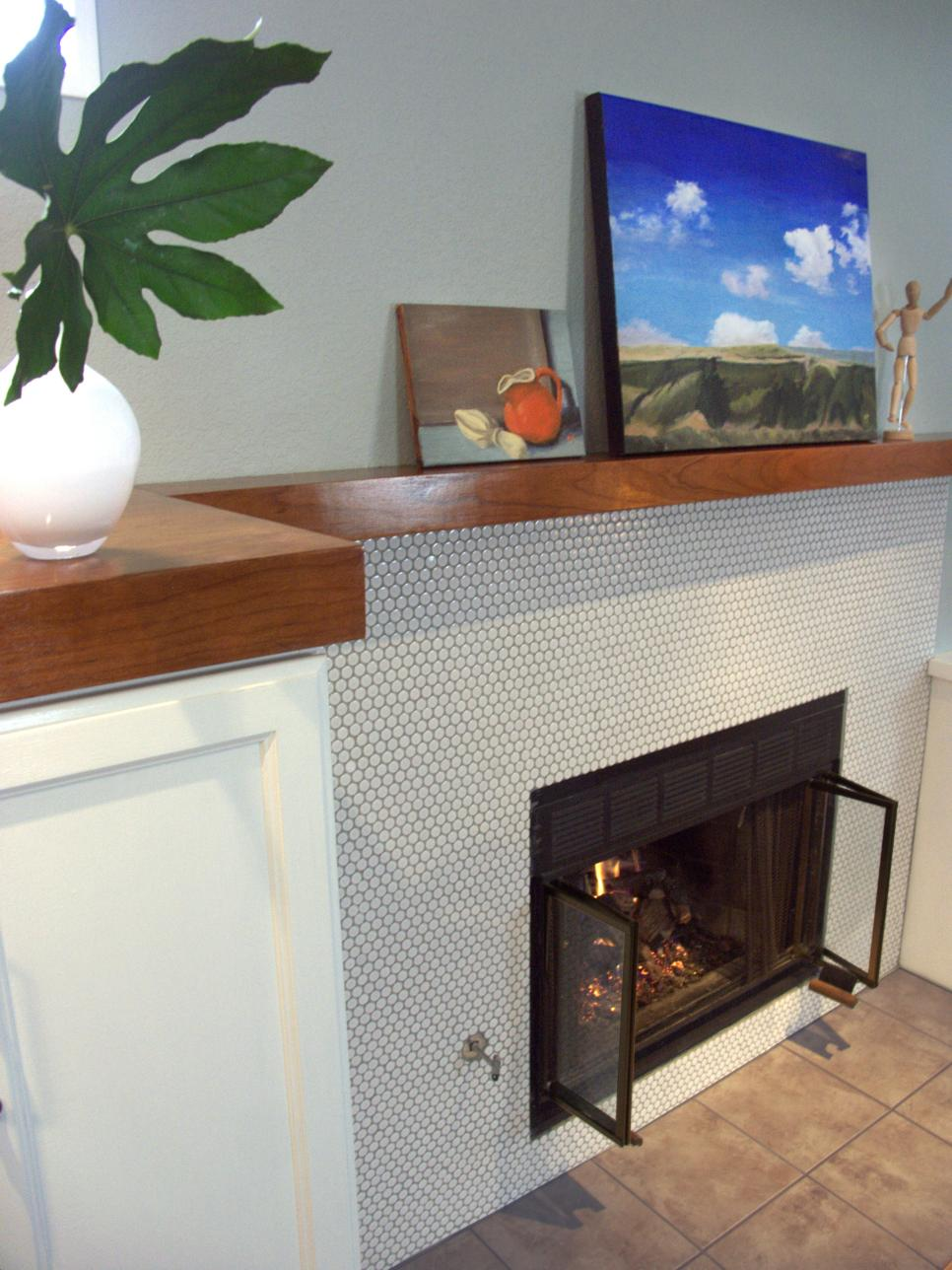 Tile Fireplace Mantels 10 colorful tile fireplaces | hgtv