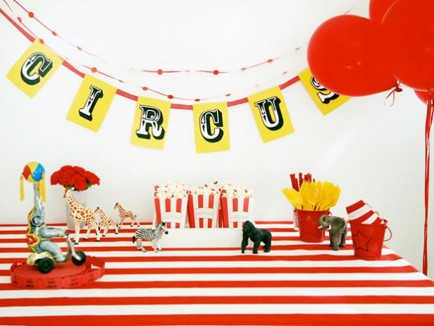 Circus-Themed Kids' Birthday Party