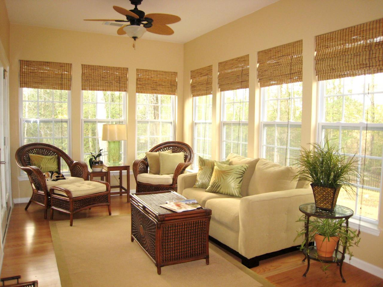 classic bamboo shades window treatments ideas