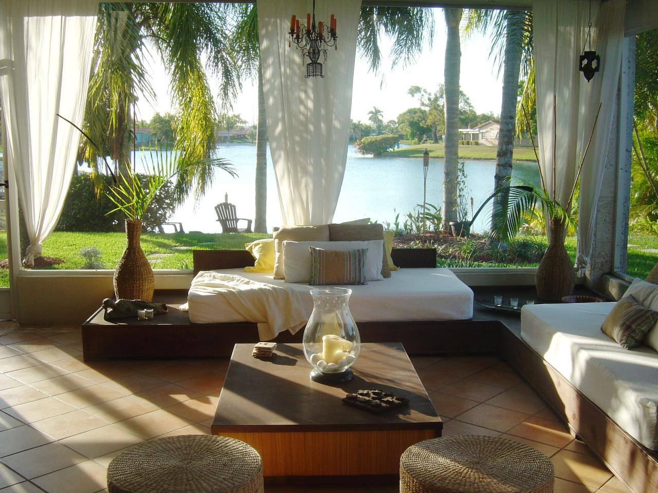 Beach inspired sunrooms decorating and design ideas for interior rooms hgtv - Airy brown and cream living room designs inspired from outdoor colors ...