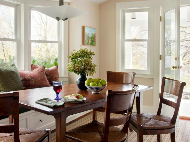 Casual Dining Room With Window Seat