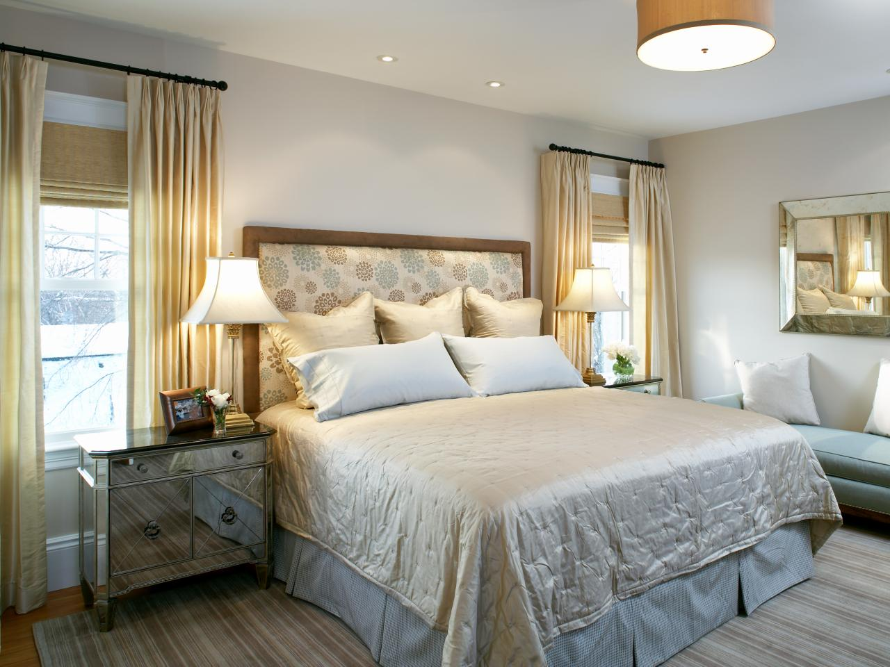 Photos hgtv - Grey and gold bedroom ...