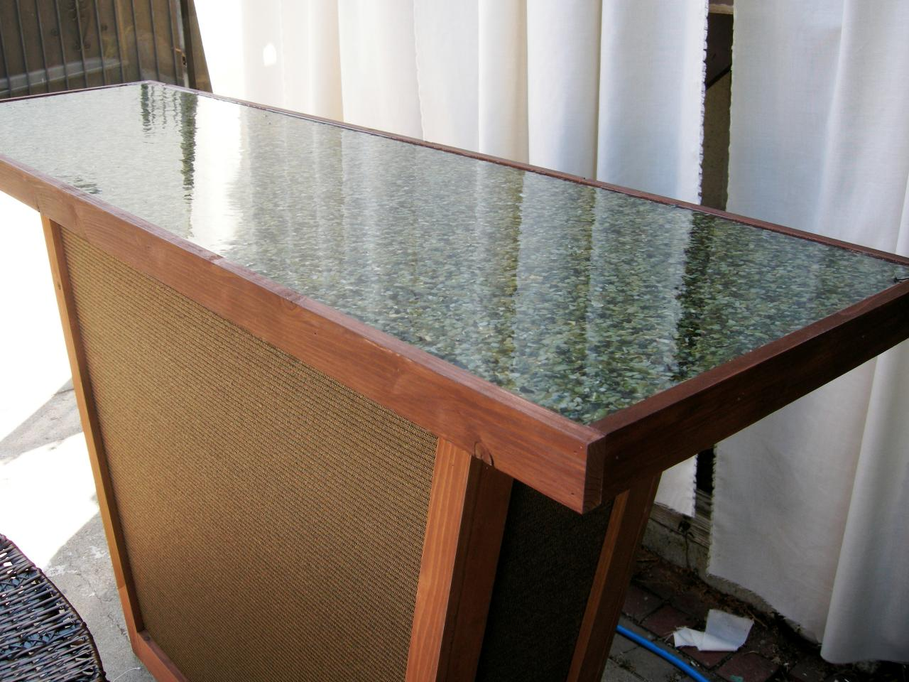 Build An Outdoor Bar With A Pebble Top