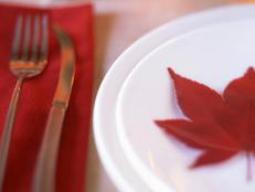 Red Leaf Place Setting