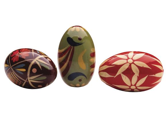 Colorful Ukrainian Eggs with Intricate Designs