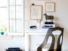 Bright and Neutral Home Office with a Modern Design