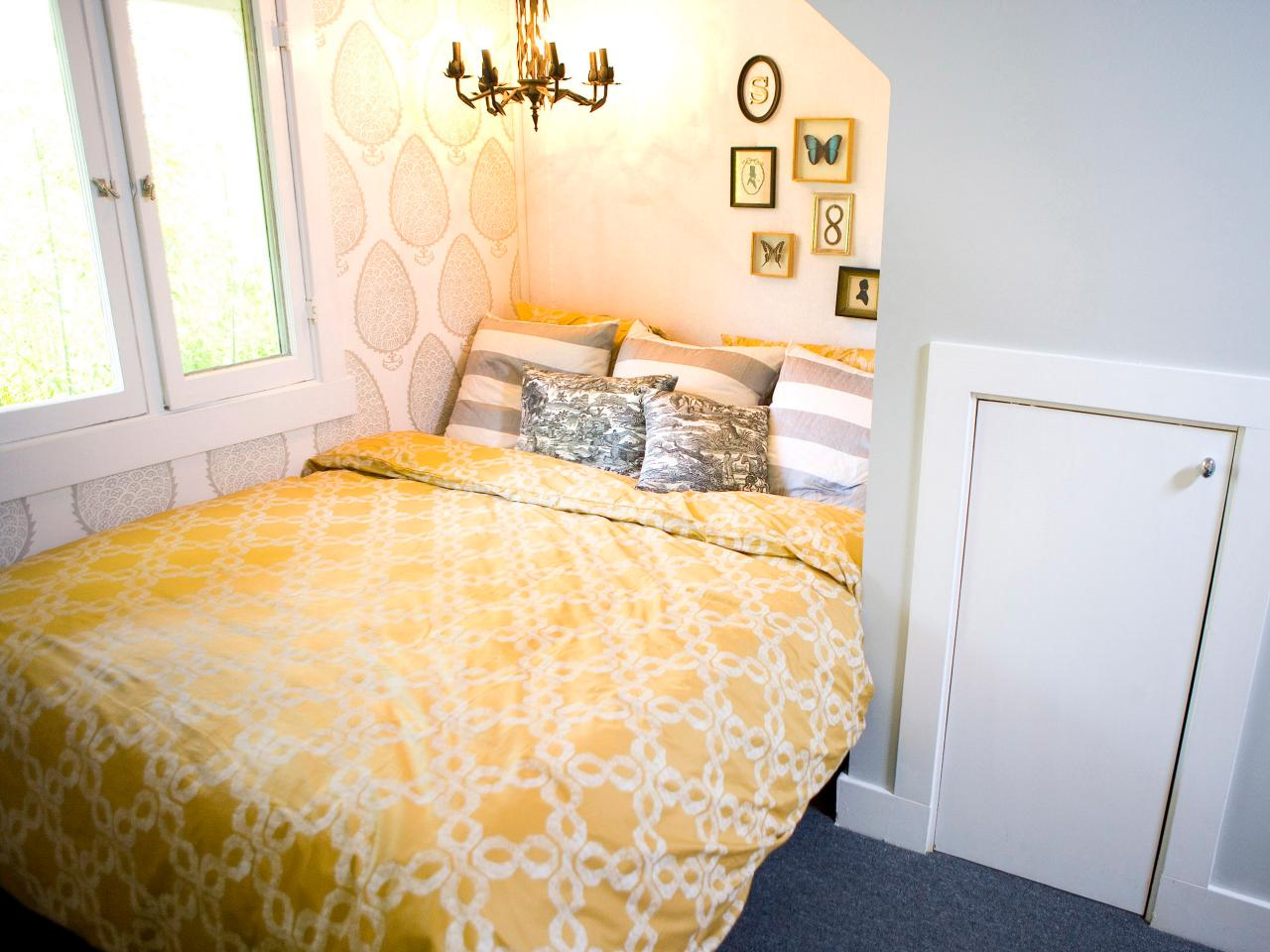 Photos hgtv for Grey and yellow bedroom