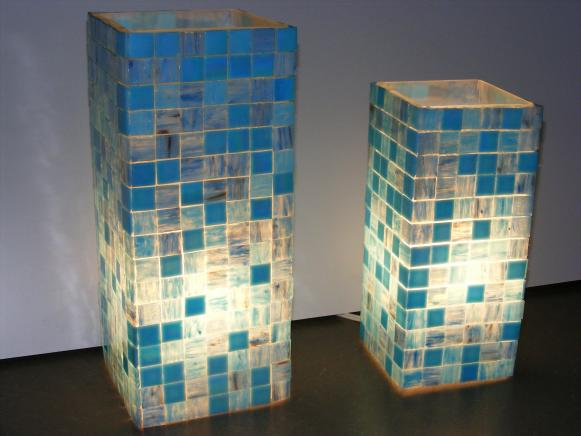 Mosaic Glass Luminaries by Michelle Aleff