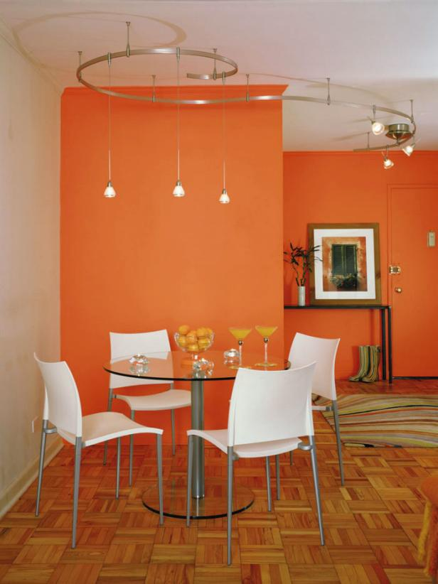 Orange design ideas hgtv Dining room color ideas for a small dining room
