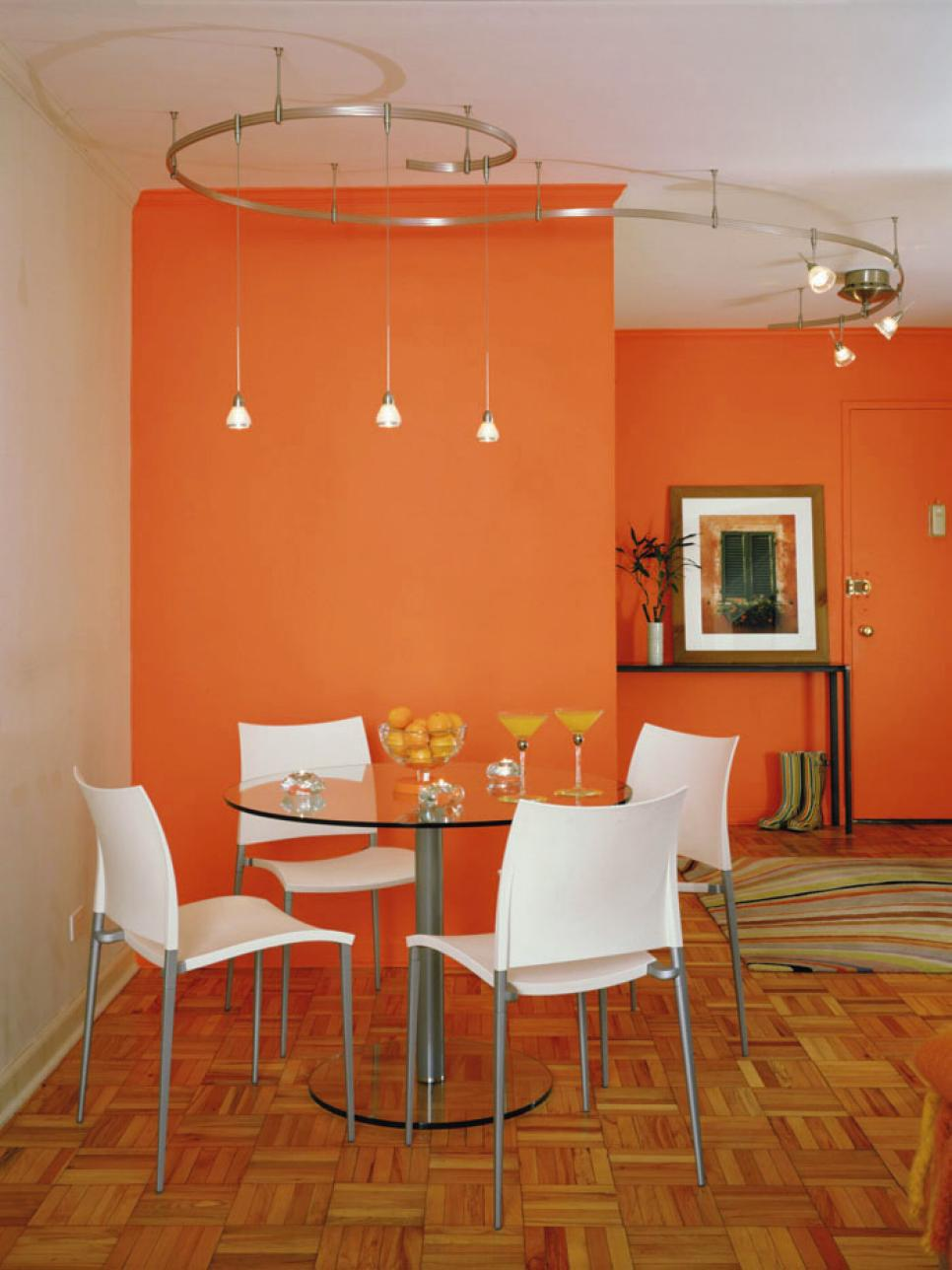 Orange design ideas hgtv for Kitchen colors with white cabinets with papier peints design