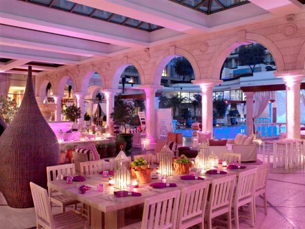 Opulent Mediterranean-Style Outdoor Dining Room